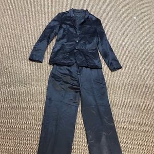 Marc by Marc Jacobs Shiny Navy Full Suit - S